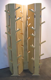 Louise Jones' tree coat stand