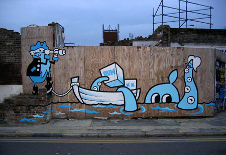 Positive Graffiti with Dave the Chimp - pirate harbour