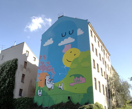 Positive Graffiti with Dave the Chimp - Backjumps Berlin mural