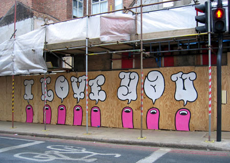 Positive Graffiti with Dave the Chimp - I Love You